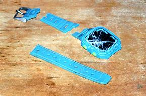 Andrew's smashed watch