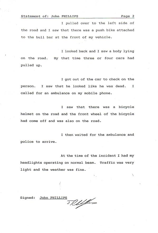2nd page Phillip's statement